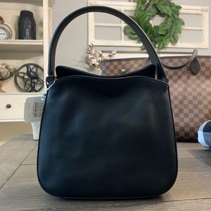 Vintage Coach Whitney Mini Hobo Leather Blk 9181